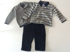Boys 3 Piece Shirt, Cardigan and Trouser Outfit/Set