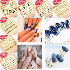 Nail Art Transfer Stickers 3D Gold Mix Design Manicure Tips Decal Decoration Hot