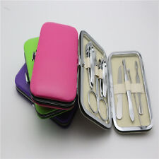 Nice 7pcs Manicure Set Nail Care Clippers Scissors Travel Grooming Kits Case New