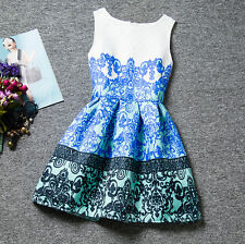 New Baby Girl Sleeveless Clothing Flower Print Dress Princess Skirt Kids Clothes