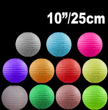 "BULK 12x 10""/25cm Paper Lanterns Colourful Wedding Party home Chinese Decoration"