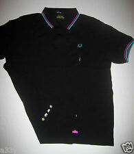 SPACE INVADERS POLO Fred Perry PIQUE T SHIRT XL L 2XL M S game arcade ship robot