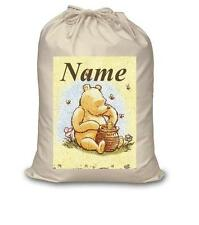 CLASSIC WINNIE THE POOH CANVAS LAUNDRY BAG / NAPPY STACKER  NEW FREE P&P
