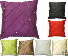 New Luxury Diamond Pearl Faux Silk Soft Cushion Cover EMBROIDERED CUSHION COVERS