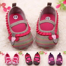 Toddler Infant Baby Girl Flower Shoes Crib Shoes Size Newborn to 18 Months NM@