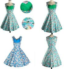 1950s 60s Vintage Hepburn Flower/Floral Cocktail Party Pin Up Housewife Dress