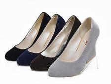 Elegant Women's Faux Suede High Wedges Pumps Mary Janes Shoes US Size