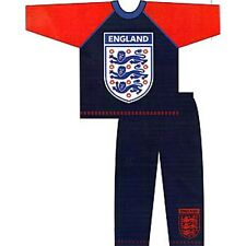 Boys England Long Cotton Pyjamas Ages 1-12 Years Blue & Red