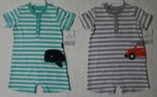 NEW CARTERS BOYS ONE PIECE ROMPER VARIOUS SIZES AND STYLES