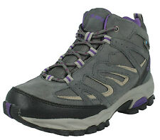HI TEC LADIES SUEDE LEATHER WATERPROOF LACE UP HIKING BOOTS FUSION SPORT MID