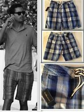 "Mens Polo Ralph Lauren Swim Shorts - Blue  Size 32"" RRP £85 NEW"