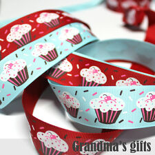 "1""25mm Ice Cream Printed grosgrain ribbon 5/50/100 yards hairbow Wholesale"
