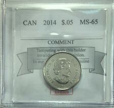 2014 Canadian Five Cent Coin Mart Graded MS-65 RCM Logo
