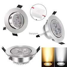 9W LED Recessed Ceiling Light Downlight Spot Lamp Warm/Cool White AC 85-265V ES