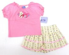 Disney Winnie The Pooh 2-Piece Pink Short sleeve Top Skirt Outfit Girls Size 4-6