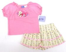 Disney Winnie The Pooh 2-Piece Pink Top Skirt Outfit Set Kids Girls Size 4 5 6 X