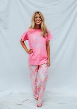 Pyjamas Ladies Cotton Top Flannel 2 pc Pjs Set (sz S-XL) Pink Floral Sz 8 10 12