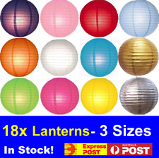 BULK New 18x mix coloour Paper Lanterns Party Chinese Wedding Home Decoration