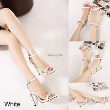 Women Serpentine Stiletto Shoes Platform High Pump Party Sandals Peep toe ES9P