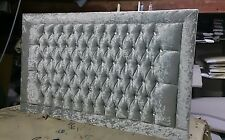 """44"""" inch Tall LUXURY BARCELONA DESIGN WALL HEADBOARD in Crushed Velvet All Sizes"""