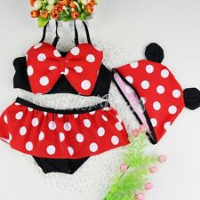 Baby Girls Toddler Minnie Mouse Swimsuit Swimming Costume Holiday Age 1-3 Years