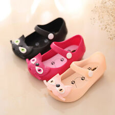 Summer Children Girl Boy Cartoon Cute Cats Kitty Sandals Jelly Kids Infant Shoes