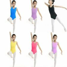 4-13 Years Kids Girls Dance Gymnastics Leotard Skirt Dress Stretch Bodysuit Top