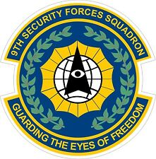 US Air Force USAF 9th Security Forces Squadron Decal / Sticker