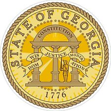 Georgia State Seal Decals / Stickers
