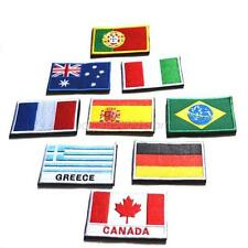 Nation FLAG embroidered PATCH EMBLEM applique NATIONAL LOGO Country Sew Trim New