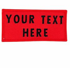 EMBROIDERED PERSONALIZED NAME TAG PATCH BADGE 2 LINES CUSTOM RECTANGULAR