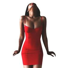 Hot Women Sexy Bodycon Sleeveless Cocktail Mini Dress Bustier Slip Wrap Clubwear