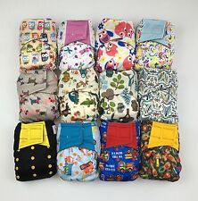Aplix Happy Flute One Size All-In-One Charcoal Bamboo Cloth Diaper. 10-40lb.