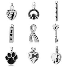 Vary shape Paw Heart Keepsake Pet Urn Holder Necklace Pendant Cremation Jewelry