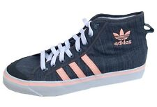 Adidas Kids Nizza Hi Mid Boot trainers D67909 lead grey/peach SIZES UK 1-6.5uk