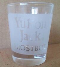 Yukon Jack Frostbite Frosted Shot Glass Collectible
