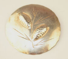 VINTAGE STERLING SILVER STUART NYE RAISED PINE CONE PIN ALMOST 2 INCHES DIAMETER