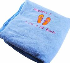 Personalized Embroidered Bath/Beach Towel Gift Embroidery Spa Any Text