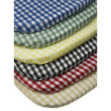 "Gingham Check Tie On Seat Pad 16"" x 16"" Kitchen Outdoor Dining Chair Cushion"