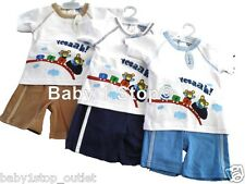 Baby Boys Shorts & TShirt Set Summer Outfit 6-12 12-18 18-23 Months 2 Piece Set