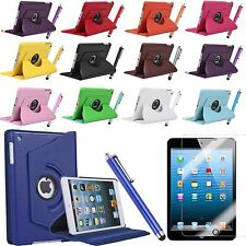 360 Rotating Ultra Thin Stand Leather Smart Cover Case For Apple iPad Mini 1 2 3