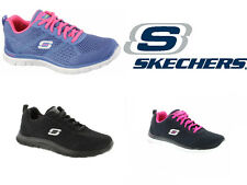 Skechers Flex Appeal - Obvious Choice - Womens Lace Up Memory Foam Trainers