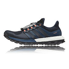 Adidas Adistar Raven Boost Womens Black Blue Running Sports Shoes Trainers