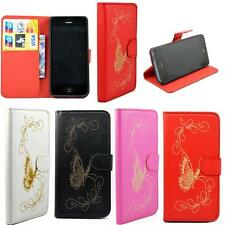 Flip PU Leather ID Card Holder Wallet Phone Case Cover For Apple iPhone 5 5S SE