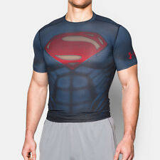 Under Armour Superman Alter Ego Mens Navy Blue Compression T Shirt Tee Top