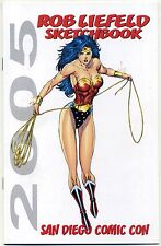 ROB LIEFELD SKETCHBOOK 2005 SAN DIEGO COMIC CON VARIANT SDCC Wonder Woman HTF NM