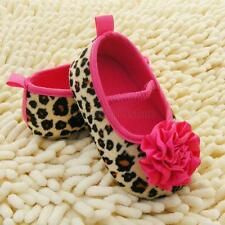 Toddler Baby Girl Soft Soled Crib Shoes Floral Leopard Shoes 0-18 Months