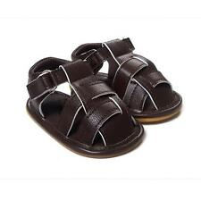 New Baby Infant Soft Sole Prewalker Sandals Non-Slip Toddler PU Leather Shoes
