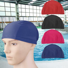MEN LADIES DURABLE NYLON & POLYESTER SWIMMING HAT BATHING SWIM CAP ELASTIC SPORT