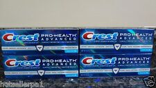 4 Crest Pro-Health Advanced SMOOTH MINT Toothpaste 4.0 oz. each expires 08/2017